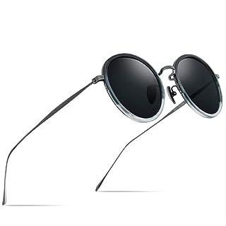LKVNHP Puro Acetato De Titanio Gafas De Sol Polarizadas Mujeres Vintage Ronda Gafas De Sol Hombres
