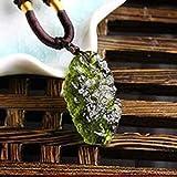 EASTCODE, ciondolo 100% cristallo di moldavite naturale verde