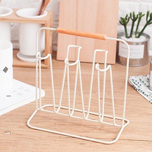 WXP Kitchen furniture - Fashion Creative Simple Cup Rack Home Cuisine Étagères de rangement Porte-théière Porte-bagages en métal Porte-bagages Porte-bagages Porte-bagages Porte-bagages Armoires et