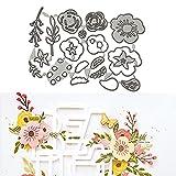 Troqueles Flores,Troqueles de corte de flores, Plantillas de corte de metal con diseño de flor 3D para Scrapbooking/Relieve/Álbum de fotos Decor/DIY Craft/Gift