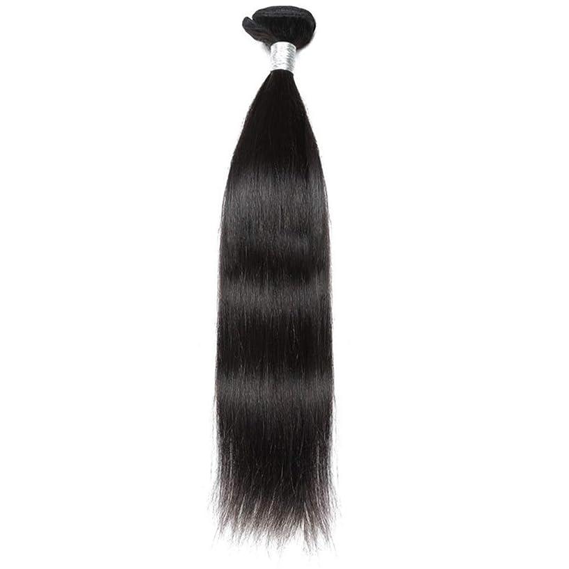 インサート確保する懲らしめBOBIDYEE ブラジルのバージンヘア9Aグレード絹のようなストレート人間の髪の毛の織り方1バンドルナチュラルカラーヘアエクステンション(10インチ-26インチ)合成髪レースかつらロールプレイングウィッグストレートシリンダーショートスタイル女性自然 (色 : 黒, サイズ : 12 inch)