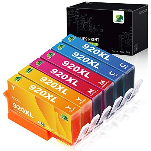 JARBO Reemplazar por HP 920 XL Cartuchos de tinta (2 Cian, 2 Magenta, 2 Amarillo) álta capacidad para HP Officejet 6000 6500 7000 7500 E709 Impresora