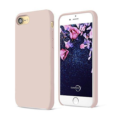 SURPHY Cover iPhone SE 2020,Cover iPhone 8, Cover iPhone 7, Custodia iPhone SE /8/7 Silicone Slim Cover Antiurto con Morbida Microfibra Fodera Case per iPhone SE 2020/8 /7 4.7 Pollici (Rosa)