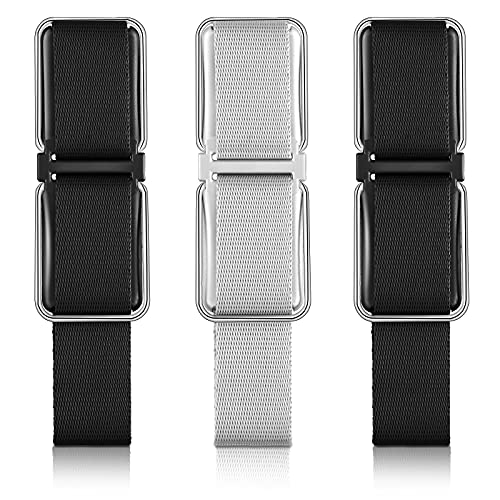 Frienda 3 Pieces Finger Strap Phone Holder Adjustable Cell Phone Holder Loop Grip Holder Elastic with Stand for Hand and Desk Finger Strap Smartphones, Small Tablets