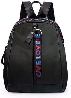 Bolsos Mochila de Mujeres Antirrobo Impermeable Nylon Pequeña Mochilas Negro Escolares Bolso Bandolera Casual para Mujer M...