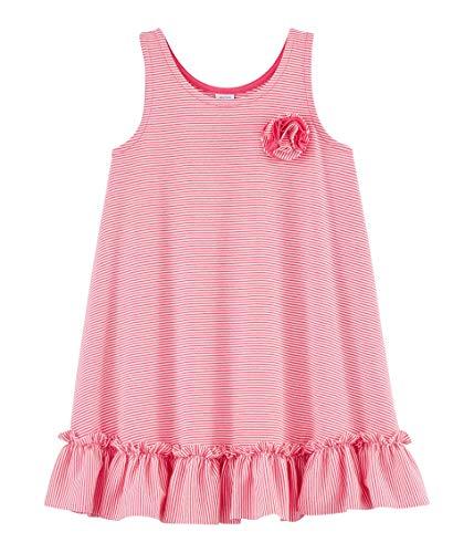 Petit Bateau Mädchen 5455901 Kleid, Mehrfarbig (Geisha/Marshmallow Dnj), 12 Jahre