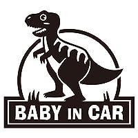 imoninn BABY in car ステッカー 【パッケージ版】 No.71 ティラノサウルスさん (黒色)