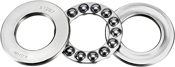 uxcell 51207 Single Direction Thrust Ball Bearings 35mm x 62mm x 18mm Chrome Steel