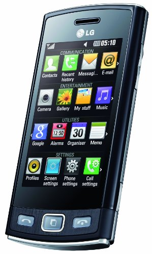 LG GM360 Viewty Smartphone (7.6 cm (3 Zoll) Display, Touchscreen, 5 Megapixel Kamera) Snap schwarz