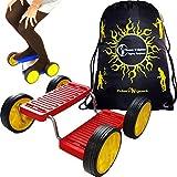 Step Fun (Rot) + Flames N Games Reisetasche. Balance Spielzeug mit Pedalen. Circus Fähigkeiten...