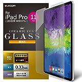 エレコム iPad Pro 11インチ 2020年/2018年モデル 保護フィルム ガラス セラミックコート TB-A20PMFLGGC