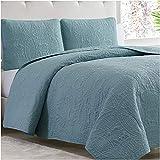 Mellanni Bedspread Coverlet Set Spa-Blue - Bedding Cover - Oversized 3-Piece Quilt Set (King / Cal King, Spa Blue)