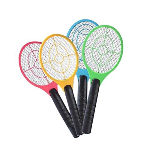 Coloré(TM Multi-Insectes Moustique Tueur électrique Tennis Raquette de Poche Poche Insecte Mouche Bug Wasp Swatter (A)