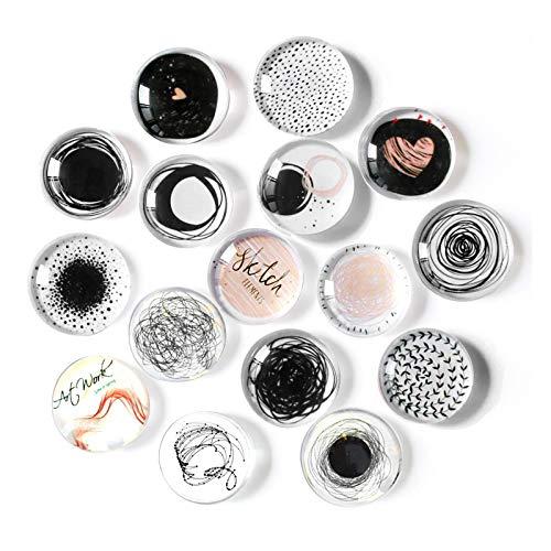 Cosylove 16 imanes de nevera de cristal para armarios de oficina, pizarras blancas, fotos, bonitos imanes decorativos para decorar el hogar