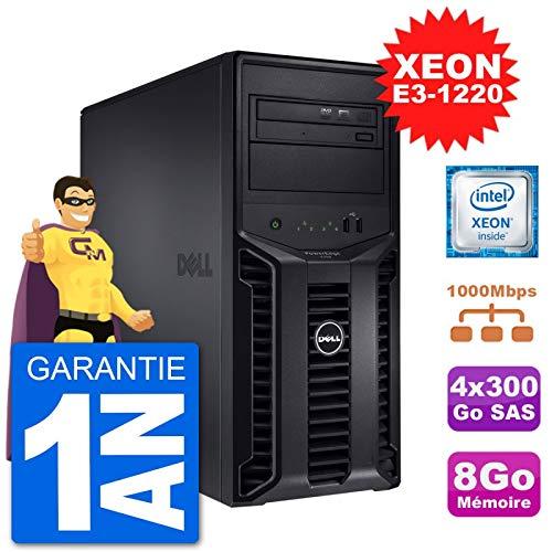 Dell Server Poweredge T110 II Xeon Quadcore E3-1220 8gb 4x300go Perc H200 SAS