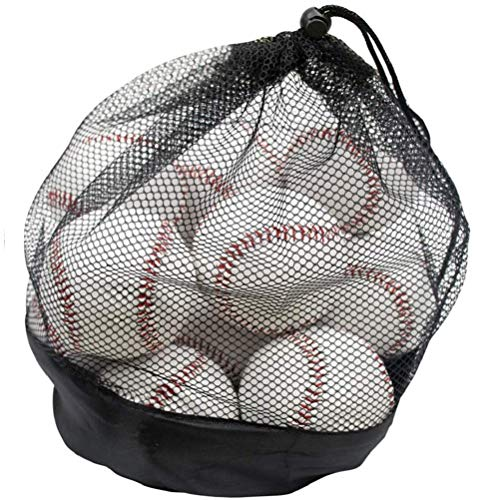 Tebery 12 Pack Standard Size Adult Baseballs Unmarked & Leather Covered Training Ball