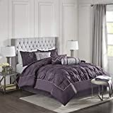 Madison Park Laurel 7 Piece Comforter Set-Purple-Full, Plum