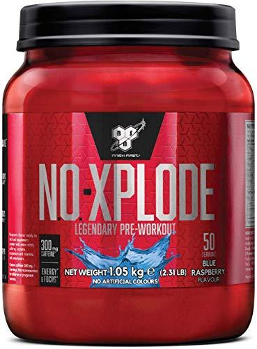 BSN N.O.Xplode Formula Pre-Workout Booster per il Consumo Prima Dell'Allenamento, Mirtillo Blue, 1.05 kg, 50 Porzioni