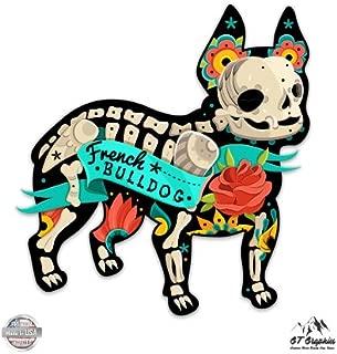 GT Graphics Dia De Los Muertos French Bulldog - Vinyl Sticker Waterproof Decal
