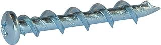 1/4 x 1 1/4 Phillips Pan Wall-Dog Light Duty Anchors Zinc Plated - Carton (1000)