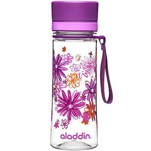 Aladdin Aveo Water Bottle , Light Purple Print - 0.35 Litre