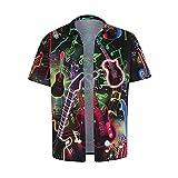 Shirt Hombre Moderna Tendencia Moda Creativa Novedad 11D Impresión Hombre Casuales Camisa Verano Regular Fit Cárdigan Hombre Manga Corta Urbano Rock Estilo Hombre Camiseta