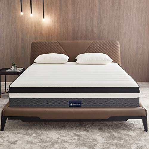 King Mattress, Ssecretland 14 inch Memory Foam & Individually Wrapped Coils Innerspring Mattress, Pocket Spring Hybrid Mattresses with CertiPUR-US Certified Foam, Plush Yet Supportive