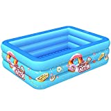 Piscina Hinchable Familiar, Piscina Niños, Piscina Hinchable Grande para Niños, Adultos, Jardín y Al Aire Librel, Piscina Familiar PVC Ecológico Engrosado Piscina Inflable (Size : 83in)
