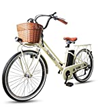 NAKTO 26' 250W City Electric Bicycle Sporting 6- Speed Gear EBike,Electric Bike with Removable 250W 36V10A Lithium Battery