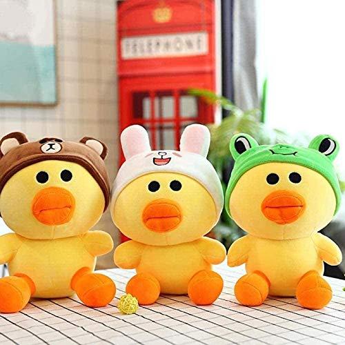 DINEGG Plüsch Spielzeug Puppe Cartoon Greifer Maschine Puppe Acht Zentimeter Explosionsmodelle Net Red Helm Ente Gelbe Ente Sally Ente-ca. 21 cm gelb YMMSTORY