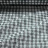 Stoff am Stück Stoff Baumwolle Bauernkaro grau weiß 1 cm