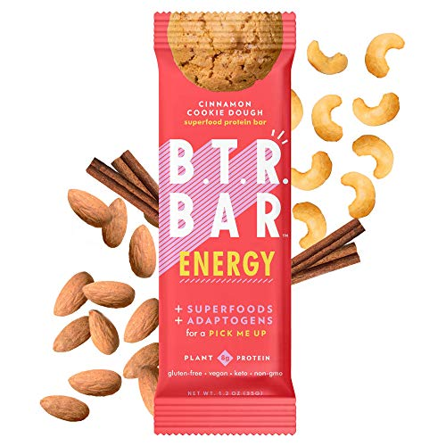 B.T.R. Bar Superfood Keto Protein Bars, Plant Based Vegan Protein, Low Carb Food, Low Calorie, Gluten Free, No Sugar Alcohols,...