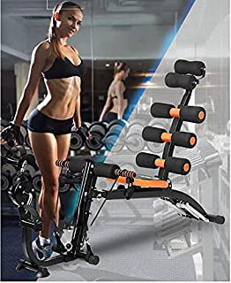 Mokshith Six Pack Care Exercise Bench with Pedal, Multipurpose Abdominal Exercise Machine with Pedal and Back Trainer, For...