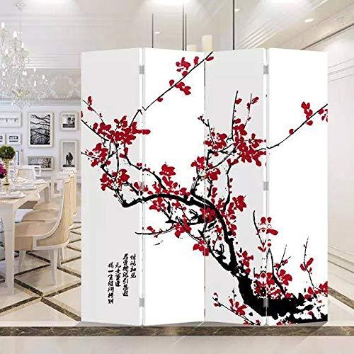 Fine Asianliving Paravent Raumteiler Trennwand Spanische Wand Raumtrenner Sichtschutz Japanisch Orientalisch Chinesisch L160xH180cm Bedruckte Canvas Leinwand Doppelseitig Asiatisch -203-103