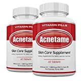 Acnetame 2 Pack 120 Pills- Vitamin Supplements for Acne Treatment- Hormonal Acne Pills to Clear Oily Skin for Women, Men, Teens, and Adults