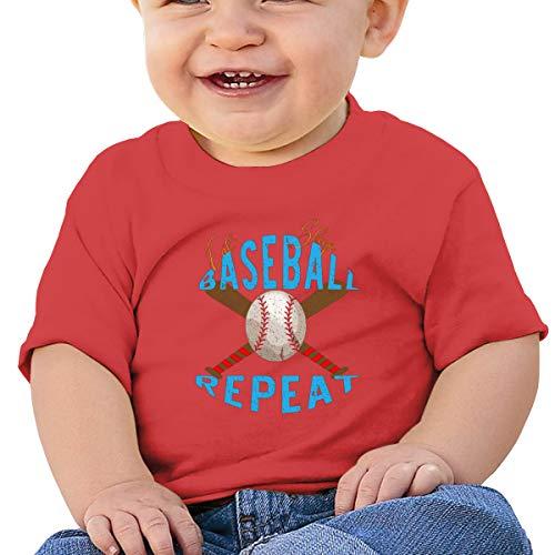 Cml519 Eat Sleep Baseball Repeat Baby T-Shirt,Baby T Shirts 6-24 Months