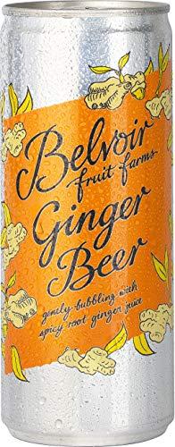 Belvoir - Ginger Beer - Boisson Pétillante au Gingembre Frais - Boisson Artisanale à l'Eau de Source, 100% Naturelle - Sans Édulcorants, Conservateurs ni Colorants - 12 Canettes de 250 ml
