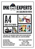 Ink Experts Subli-Sure - Papel de sublimación (A4, 120 g/m²) 100 Sheets