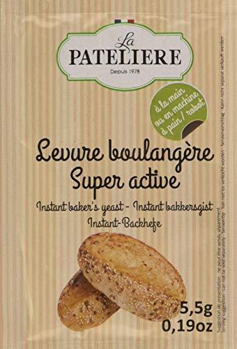 LA PATELIERE Levure Boulangère Super Active 5,5g de 5 Sachets (27,5 g)