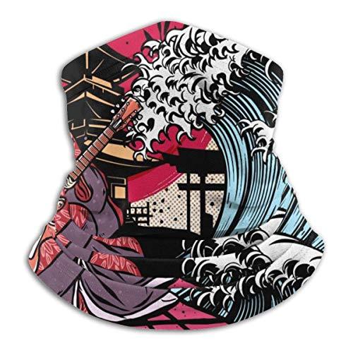 NA 12-In 1 Stirnband,Japan Music Festival Poster Magic Stirnband, Cool Camouflage Gesichtsdekoration Für Skifahrer Erwachsene,26X30Cm