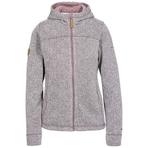 Trespass Damen Reserve Warme Microfleece-Jacke mit Kapuze, 260 g/m², Dusty Heather, XL