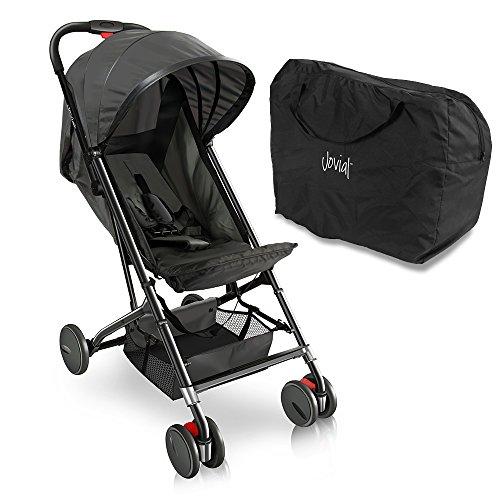 Jovial Portable Folding Baby Stroller (Black)