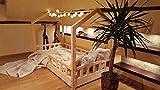 Hyggelia Bett für Kinder, Hausbett, Kinderhaus, Kinderbett Sicherheitbarrieren, 5 Tage Versand (140 x 200 cm, Sicherheitbarieren: Mit)
