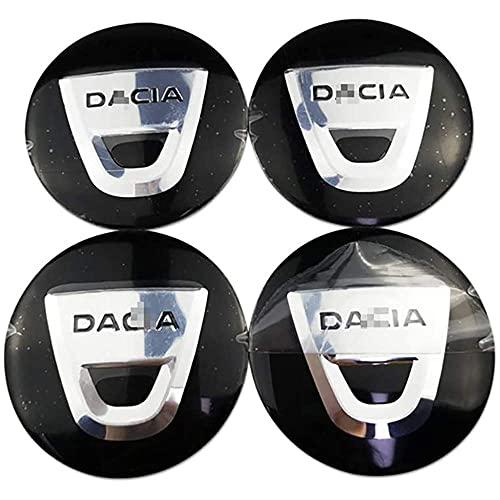 Tapas De Cubo De Rueda De 4 Piezas, Tapas De Centro De Cubo Con Pegatinas Con Logotipo, Accesorios De Coche, Para Dacia Duster Logan Sandero Dokker 56mm