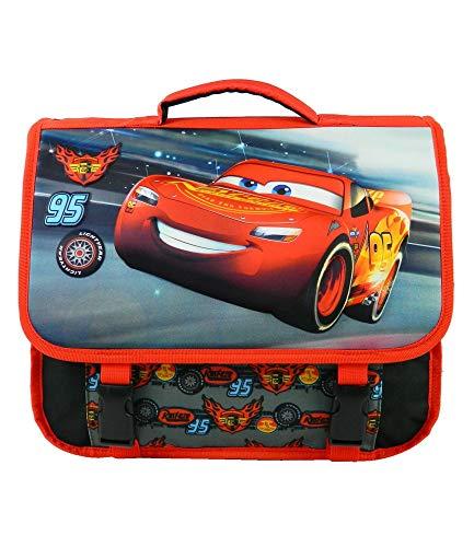 Bagtrotter Cartable Disney Cars Mcqueen 38cm Noir Et...