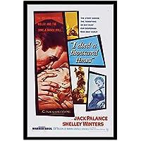 GZSBYJSWZ 私は千回死んだセクシーな古典的な映画フィルムノワールレトロヴィンテージポスターキャンバス絵画壁アート写真家の装飾ギフト-50X70Cmx1フレームなし