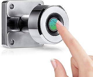 Goolsky Fingerprint Drawer Lock Digital Cabinet Locks 20 Fingerprints Rechargeable Keyless Furniture Built-in Zinc Alloy S...