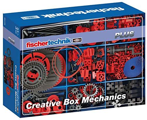 Fischertechnik 554196 Creative Box Mechanics-eine spezielle Auswahl an Antriebs-und Getriebeelementen-Inhalt: 290 Bauteile, Grundplatte, Zwei stapelbare Kunstoffwannen für die geeignete Aufbewahrung