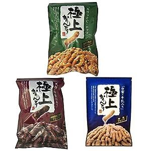 山脇製菓 極上黒糖かりんとう 極上ピーナッツかりんとう 極上白蜜かりんとう 各140g×2袋ずつ 計6袋
