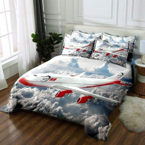 RONGXIE bedset 3D beddengoed sets beddengoed Dekbedovertrek kussensloop Twin king size Queen vliegtuig print Textiles Drop Ship